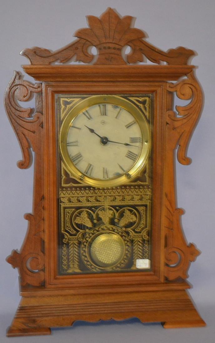 "Seth Thomas Walnut ""Newark"" Kitchen Clock"
