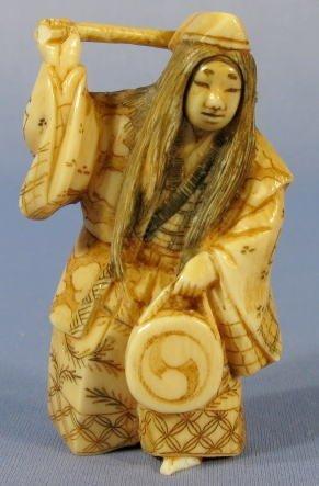 506: Japanese Ivory Netsuke w/Revolving Face
