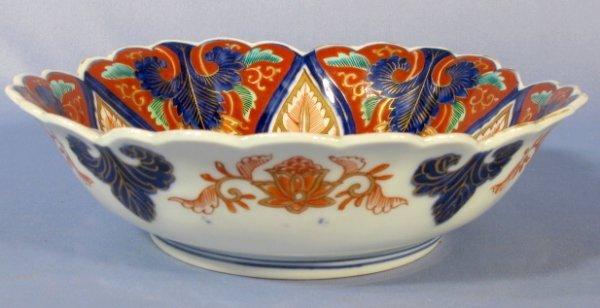 515: Japanese Imari Bowl w/Stylized Decor