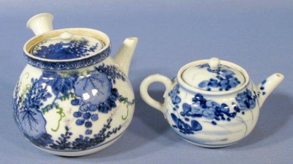 526: 2 Teapots: 1 Miniature & 1 Side Pour
