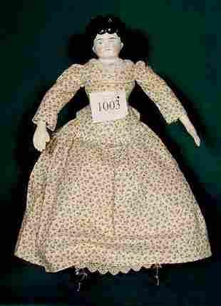 Black China Head Doll Dorothy Leather Limbs NR