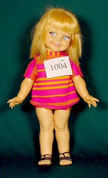 1004: Ideal Plastic Doll 1966 with Voice Box NR
