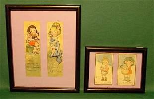 2 Framed Bookmarks & Cards - Signed NR