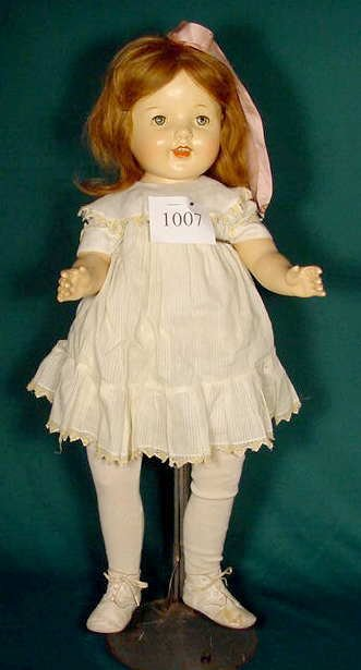 1007: Unmarked Doll with Horsman Tagged Clothes NR