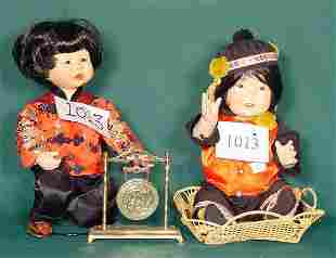2 Oriental Bisque Dolls 1 by Kathy Hippensteel