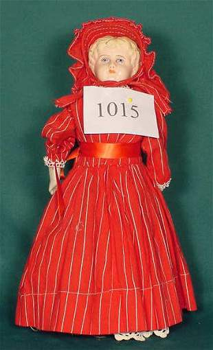 Tin Head Doll Marked Minerva, Germany NR
