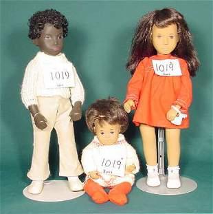 3 Sasha African American Dolls NR
