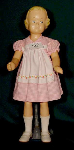 1021: All Hard Plastic Buster Brown Mannequin Doll NR