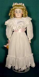 1045: Bisque Head Doll #8 Made in Germany NR