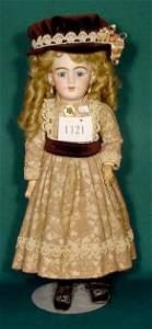 1121: Bisque Socket Head Doll S&H 1009 DEP St,NR