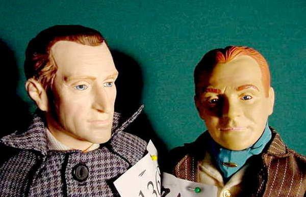 1368: 2 Plastic Effanbee Dolls Sherlock Holmes & Cagney - 2