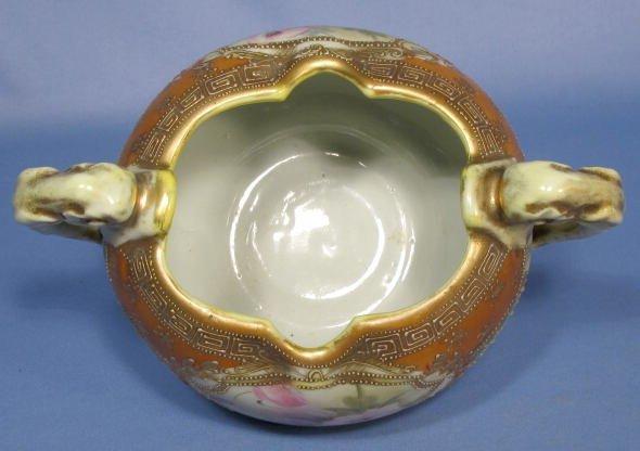 1006: Nippon Flower Bowl w/Dolphin Handles - 3