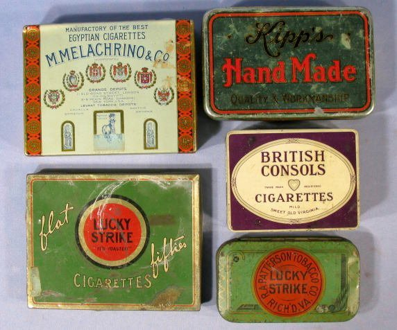 4: Group of 5 Advertising Tobacco Tins