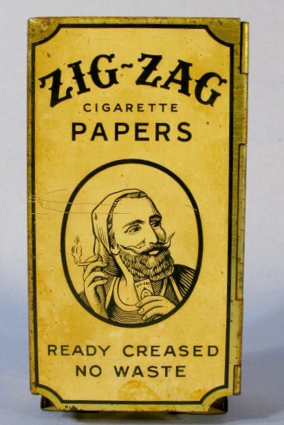 9: Metal Zig-Zag Cigarette Paper Dispenser