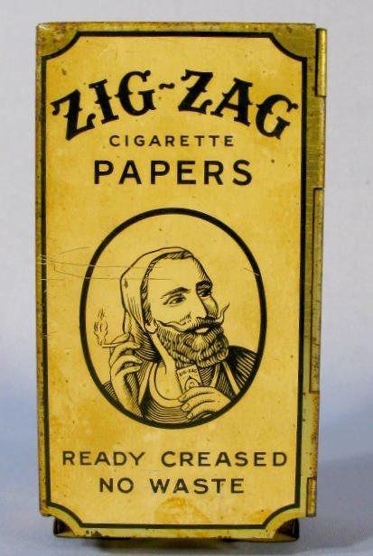 9: Metal Zig-Zag Cigarette Paper Dispenser