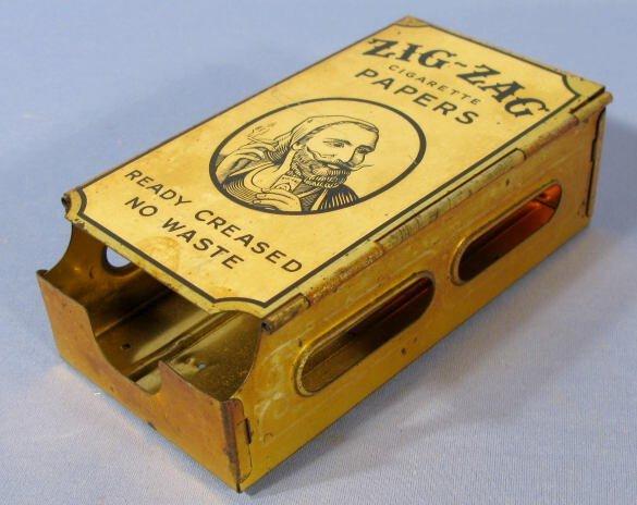 9: Metal Zig-Zag Cigarette Paper Dispenser - 2