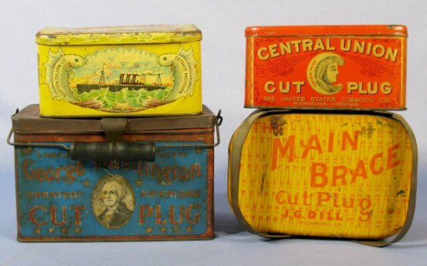 12: Group of 4 Advertising Tobacco Tins