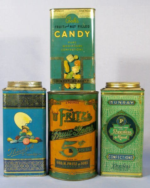 15: Group of 4 Advertising Candy Tins