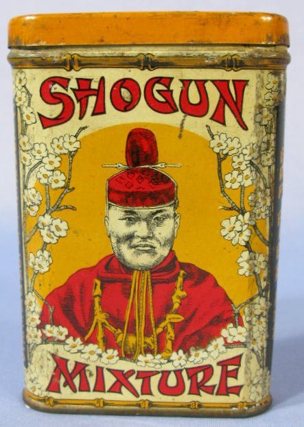 58C: Shogun Mixture Tobacco Advertising Pocket Tin