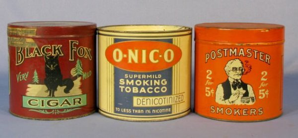 60: Group of 3 Advertising Tobacco Tins