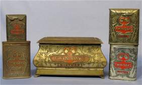 78 Group of 5 Twin Oaks Tobacco Advertising Tins