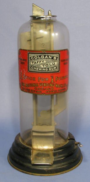 97: Colgan's 1¢ Taffy Tolu Chewing Gum Dispenser