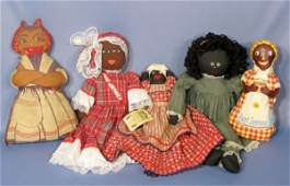 185: Group of 5 Black Collectible Dolls
