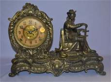 Antique Kroeber figure Mantle Clock
