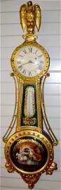 Antique Very Rare! Waltham Girandole Banjo Clock