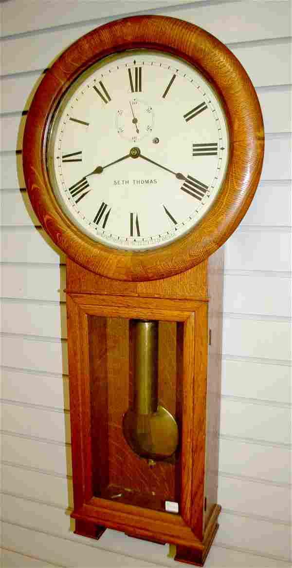 Antique Seth Thomas #2 Regulator Wall Clock
