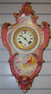 Antique Ansonia Porcelain Hanging #3 Wall Clock