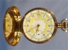81: Elgin 17J 16S Hunting Case Pocket Watch