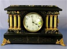 229: Seth Thomas Black & Adamantine Mantle Clock