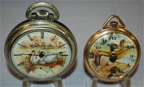 2 Waterfoul Theme Elgin OF Pocket Watches