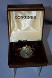 18k  Longines 30MM 2 Button Chronograh