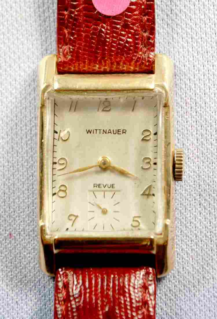 14K YG Wittnauer 17J Men's Wrist Watch