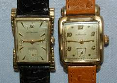 2 Wittnauer 17J Fancy Lug Wrist Watches