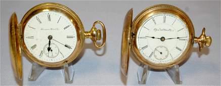 2 HC Pocket Watches- Elgin and Hampden