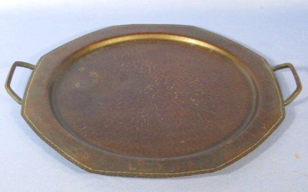 1: Roycroft Hammered Copper Tray w/Handles