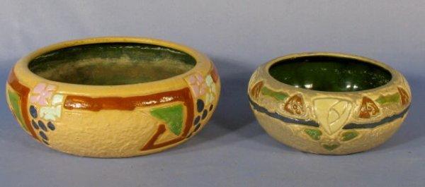 3: 2 Roseville Pottery Mostique Bowls