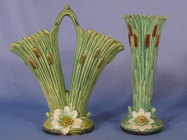 6: 2 Weller Pottery Ardsley Vases