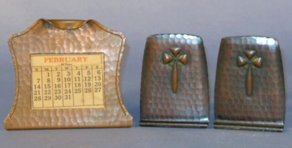 12: Group of 3 Roycroft Hammered Copper Items