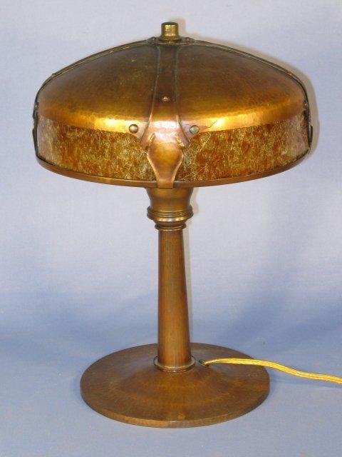 138: Roycroft Model 902 Hammered Copper Desk Lamp