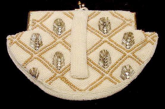 2006: Julius Garfinckel & Co Rhinestone Clasp Handbag - 2