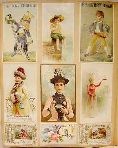 2023: Victorian Scrapbook Advertising Trade Cards NR - 3
