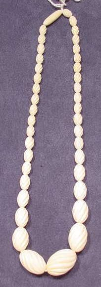 2024: Ivory Carved Bead Necklace NR