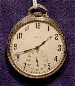 2025 Elgin 17j Open Face Pocket Watch 14K Gold NR