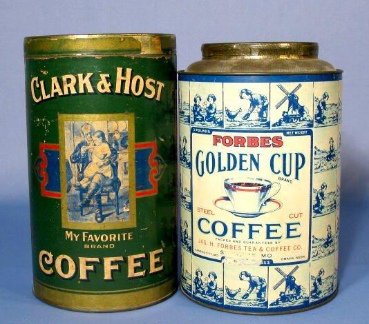 5: 2 Three Pound Coffee Tins