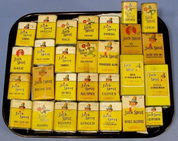 6: Group of 28 Jack Sprat Spice Tins