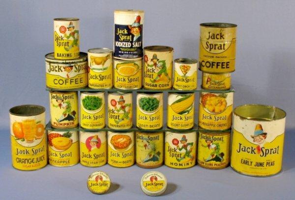 7: Group of 25 Jack Sprat Items